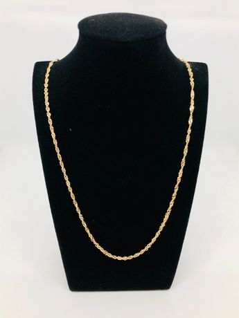 PIĘKNY łańcuszek złoty pr. 585 14k / waga: 4,95 gram / długość: 55 cm