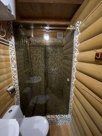 Душевая кабина из бронзового стекла