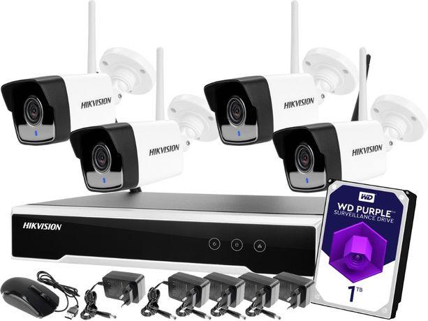 Monitoring zestaw bezprzewodowy Hikvision 4 kamery WiFi Full HD 1080p