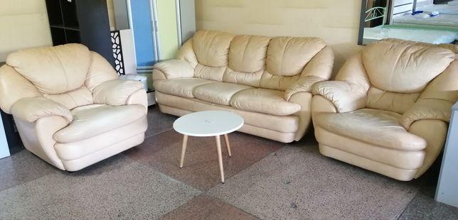 Продам диван 2 кресла кожа