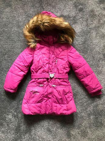 Ciepła kurtka zimowa rozmiar 110