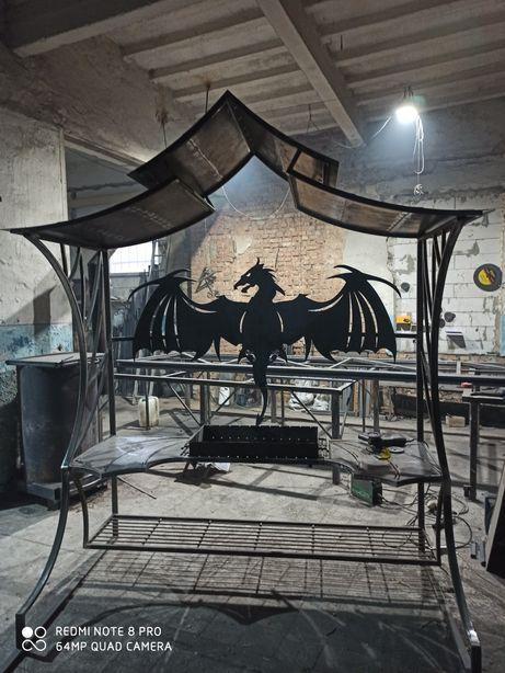 Мангал Дракон з дахом