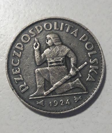 10 zł 1924 kleczacy rycerz