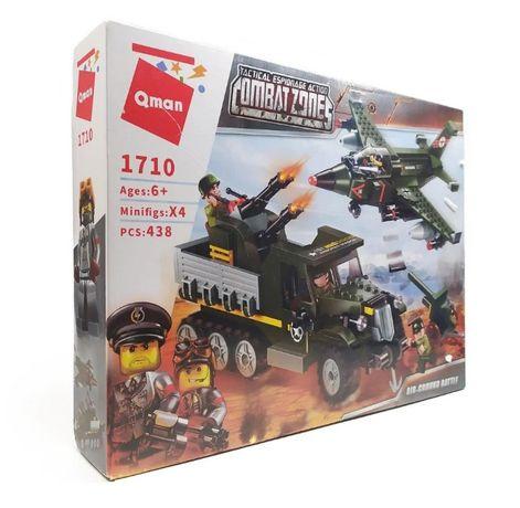 Конструктор Brick / Qman 1710 Combat Zone Военный транспорт Авианалет