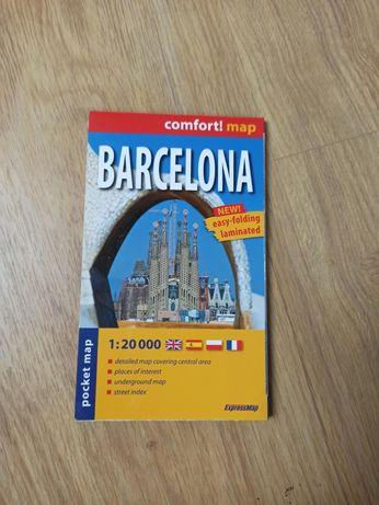 Mapa Barcelony kieszonkowa