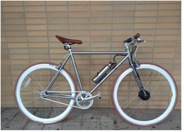 Bicicleta elétrica Pepita Fixie modelo citadino