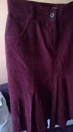 Spódnica czerwona burgundowa czarna 38 ideał