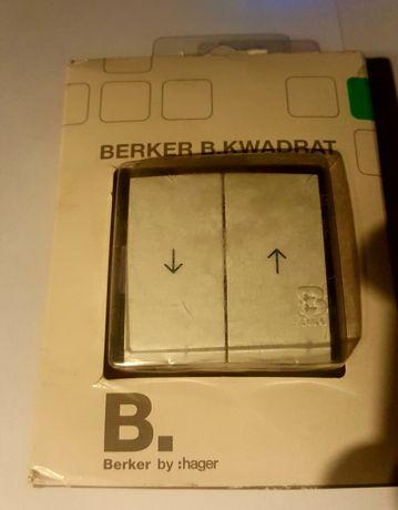 Łącznik żaluzjowy klawiszowy  BBERKER B KWADRAT śnieżnobiały