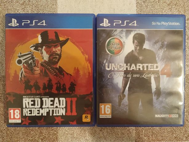 Red Dead Redemption 2 / Uncharted 4 Jogos PS4 Tudo- 15