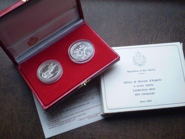 Серебро 500 и 1000 лир 1992-го года Сан- Марино
