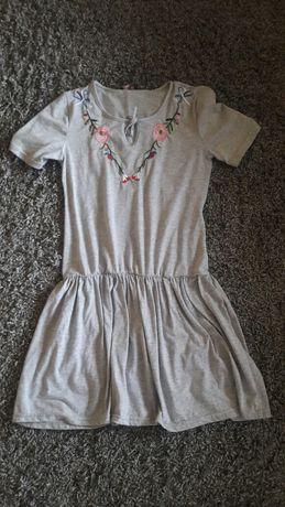 Sukienka szara roz 38