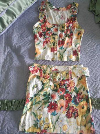 Комплект летний юбка и топ