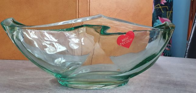 Patera szklana na owoce Art Deco