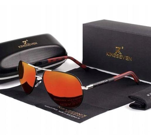 Okulary przeciwsłoneczne Kingseven UV400 Pilotki
