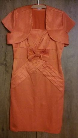 sukienka + bolerko 40-42 + torebka