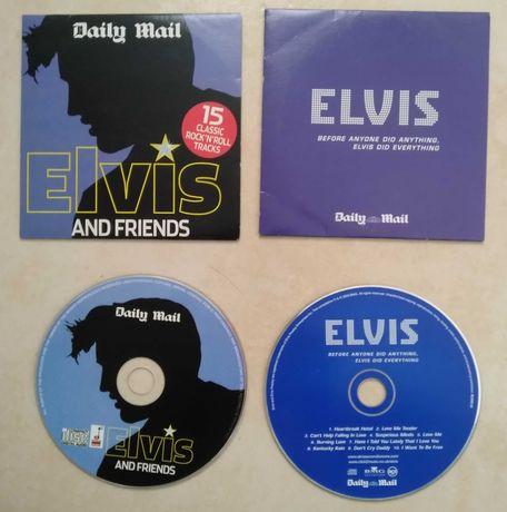 2 CDs de música do famoso cantor Elvis Presley