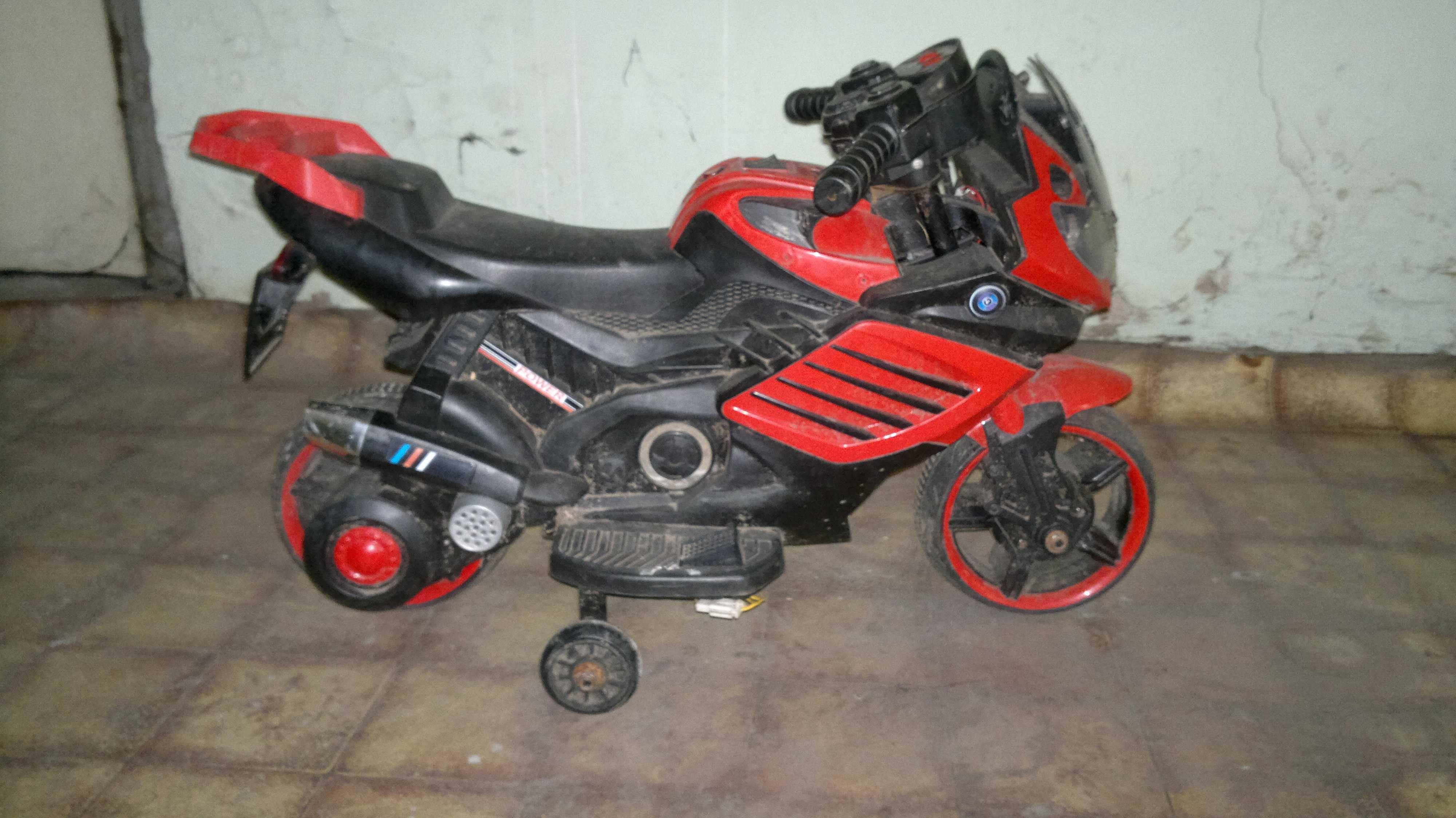 Motocykl BMW dla dzieci na akumulator z kółkami bocznymi elektryczny