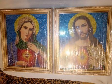 Вишивка пара Марія Божа і Ісус