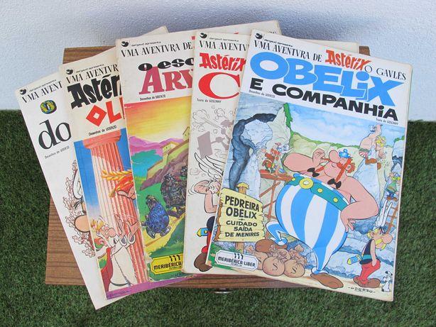 Livros BD Astérix e Obélix Antigos - Anos 60/70