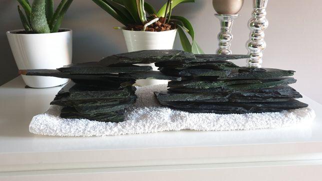 Łupek czarny kamień dekoracyjny do akwarium