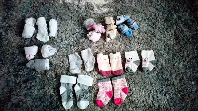Zestaw skarpet dla dziewczynki h&m 56 62 0-3 miesięcy