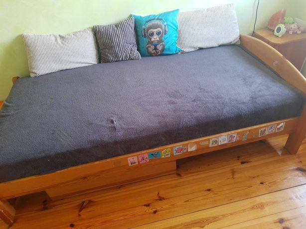 Łóżko sosnowe 100x200 szafka nocna