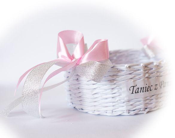 2 x koszyczki koszyk oczepinowy zestaw na wesele