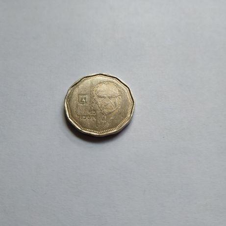 Юбилейная монета новые 5 шекелей с Леви Эшколем 1990 г. Израиль