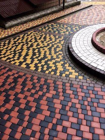 Бруківка Тротуарна плитка Костка Блоки з відсіву