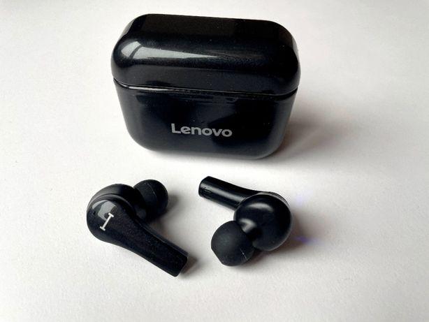 Lenovo QT82 TWS беспроводные наушники IPX5 USB Type-C ЧЕРНЫЕ