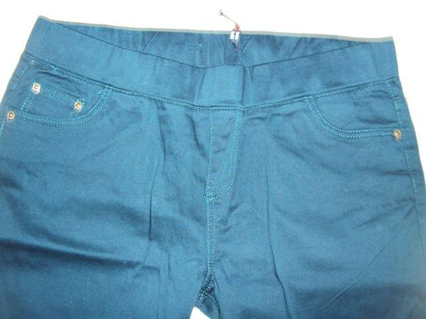 Spodnie nowe zielone butelkowa zieleń rurki dżinsy 42/44