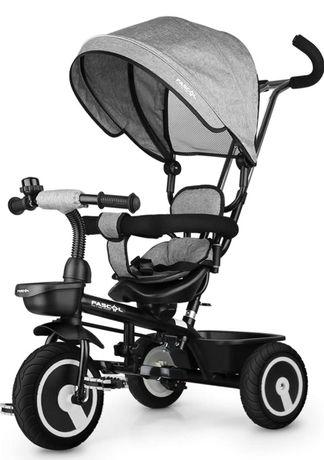Trójkołowy rower dzieciecy Fascol 6 w 1 z daszkiem nowy