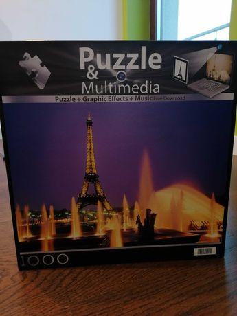 Puzzle & Multimedia Wieża Eiffla 1000 Clementoni