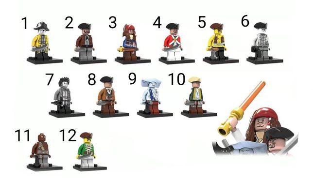 Nowe klocki figurki piraci z Karaibów w pełni kompatybilne z Lego