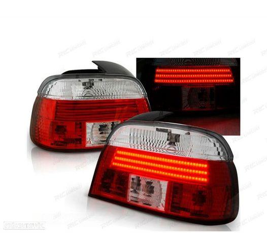 FARÓIS TRASEIROS LED BMW E39 LIMOUSINE 95-00 RED / CRYSTAL VERMELHO / CRISTAL