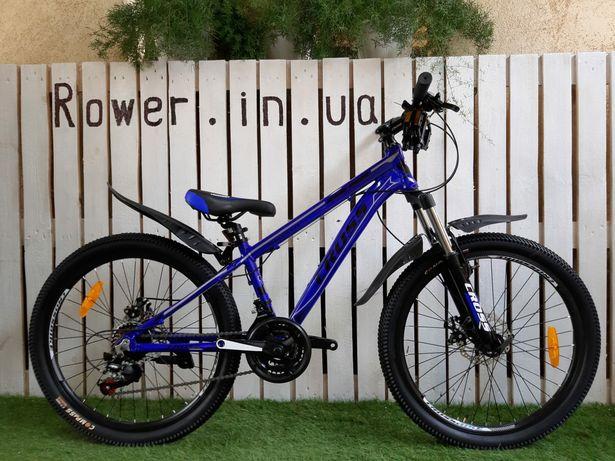 Велосипед алюмінієвий новий гірський Crossbike Hunter 24 Blue/ Детский