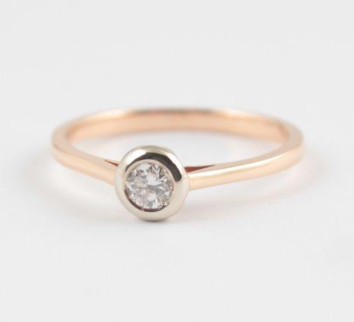 Распродажа! Кольцо для помолвки из розового золота с бриллиантом