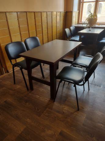 Столы деревянные коричневые