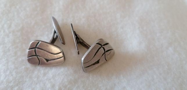 Spinki stare do mankietów srebrne