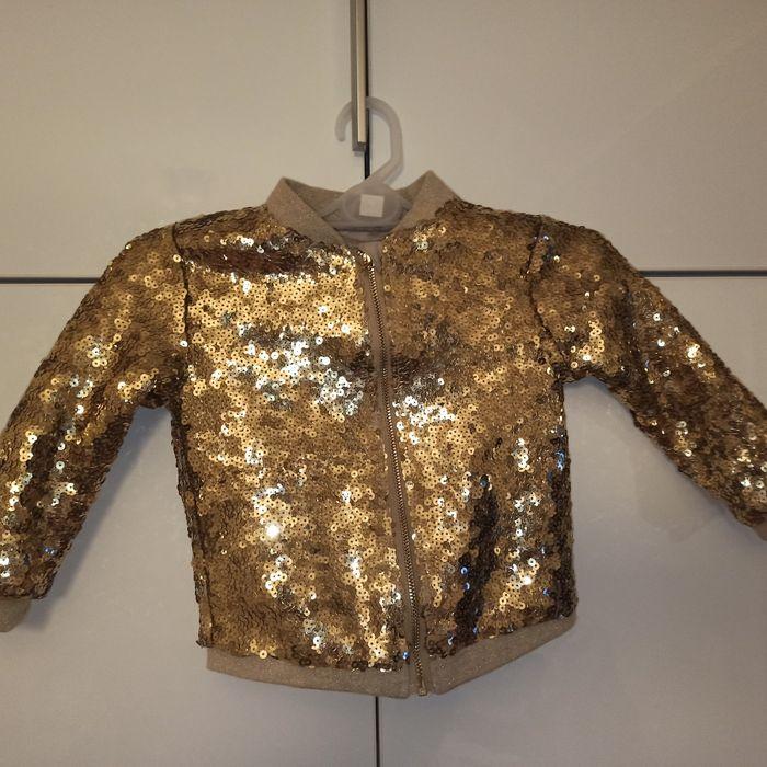 Cekinowa bluza dla dziewczynki h&m Płock - image 1