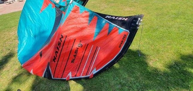 Kite Slash 9m + Barra Naish Torque (tudo impecável). Ano 2019