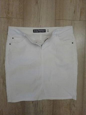Spódnica jeansowa biała 36