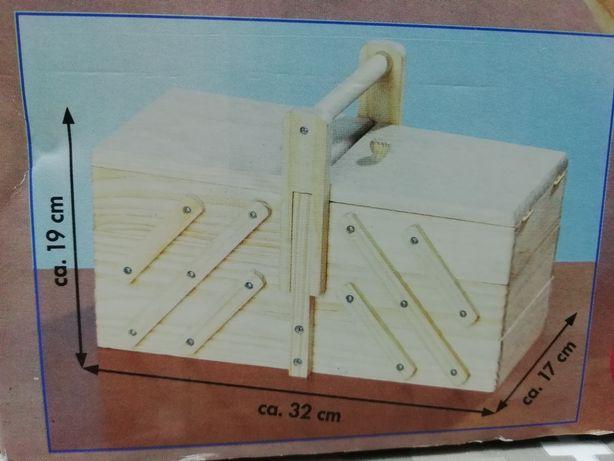 Caixa costura madeira