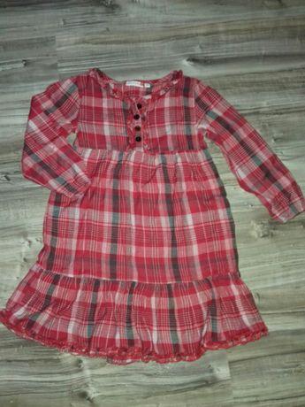 Sukienka święta czerwona krata 104