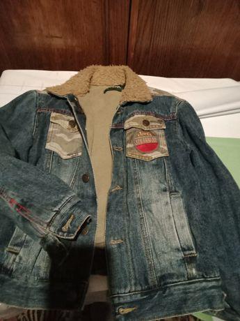 Курточка на флисе джинсовая