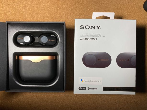 Auriculares Bluetooth True Wireless Sony WF-1000XM3 - Black