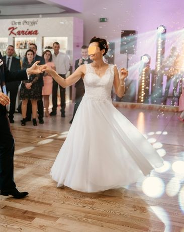 Suknia ślubna biała 36/38/40 S/M/L 167cm + obcas + Gratis