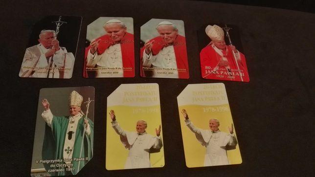 Karty telefoniczne Papież