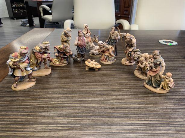 Фигурки деревянные. Композиция «Рождество Христово» Италия.