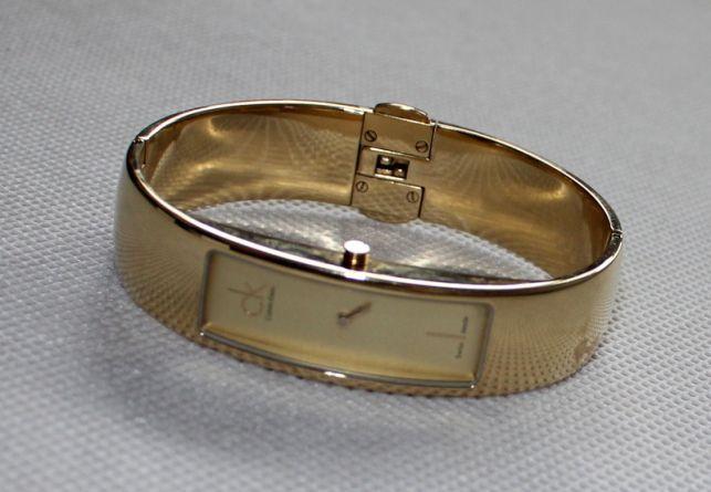 Calvin Klein zegarek pozłacany
